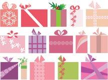 15 vecteur réglé de Noël par cadeaux Photos stock