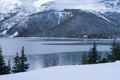 150 Freezing Cold Winter Lake Scene Royalty Free Stock Photos