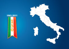 150 Italy. Illustration background that celebrate the anniversary of the Italian unification vector illustration