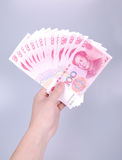 1500年瓷货币rmb100元 免版税库存图片