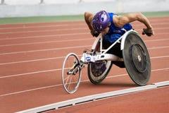 1500 mężczyzna metrów biegowy s wózek inwalidzki Zdjęcie Royalty Free