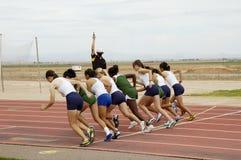 1500-Meter-Lack-Läufer der Frauen Stockfoto