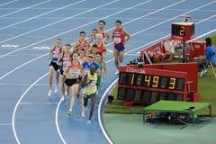 1500 meters men. BARCELONA - JULY 28: European Athletics Championships Barcelona 2010. Semi-final of 1500 meters for men. July 28, 2010 in Barcelona (Spain royalty free stock images