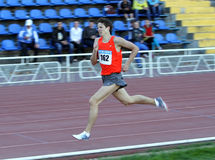 On the 1500 meters race Stock Photography