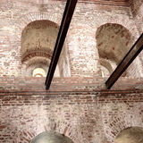 1500's gotic fortbuitenkant. Polen. Stock Foto's