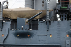 152mm bow-gun of Aurora cruiser Royalty Free Stock Photo