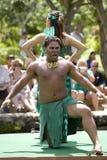 1544 танцора маорийского Стоковая Фотография