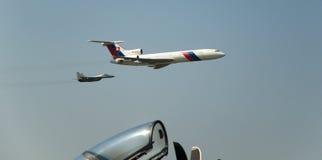 154m tupolev tu slovac mig 29 Военно-воздушных сил Стоковые Фото