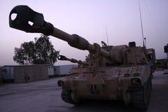 155短程高射炮m109 mm推进了自 库存图片