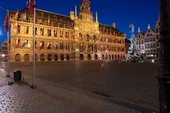 1564年安特卫普grote大厅markt城镇 库存图片
