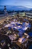 15M Madrid Protestbewegung Stockbilder