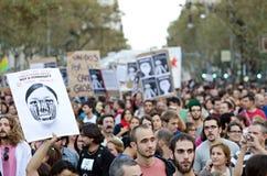 15o巴塞罗那团结的更改全球 图库摄影