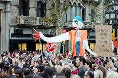 15o巴塞罗那团结的更改全球 免版税图库摄影