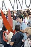 15O - die voor een globale verandering wordt verenigd - Barcelona Royalty-vrije Stock Afbeelding