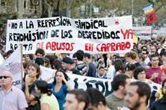 15O - die voor een globale verandering wordt verenigd - Barcelona Royalty-vrije Stock Afbeeldingen