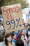 15O - die voor een globale verandering wordt verenigd - Barcelona Stock Foto's