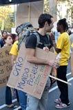15O - Unido para uma mudança global - Barcelona Fotografia de Stock Royalty Free