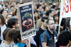 15O - Unido para uma mudança global - Barcelona Imagens de Stock