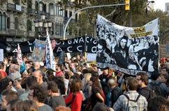 15O - Unito per un cambiamento globale - Barcellona Fotografia Stock