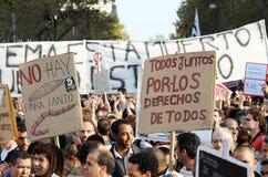 15O - Unito per un cambiamento globale - Barcellona Fotografia Stock Libera da Diritti