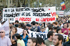15O - Unito per un cambiamento globale - Barcellona Immagini Stock Libere da Diritti