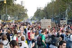 15O - Unito per un cambiamento globale - Barcellona Fotografie Stock