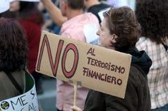 15O - Vereinigt für eine globale Änderung - Barcelona Stockfoto