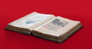 15st century vintage book stock photography