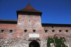 16世纪城堡的废墟 库存照片