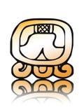16个日历kib玛雅人密封向量 免版税库存照片