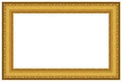 16个框架金黄照片 免版税库存照片