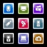 16个颜色屏幕集 免版税库存照片
