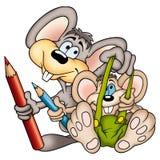 16位鼠标画家 库存照片