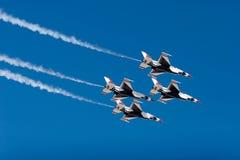 16台f喷气式歼击机雷鸟 图库摄影