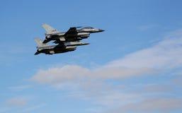 16台f喷气式歼击机 免版税库存图片