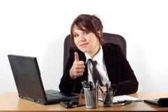 16名女实业家服务台 库存图片