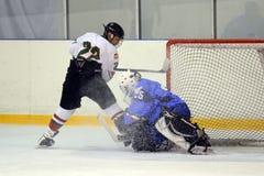 16场比赛匈牙利icehockey下意大利 免版税库存图片