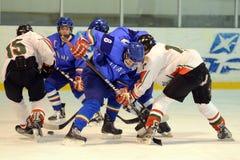 16场比赛匈牙利icehockey下意大利 免版税图库摄影