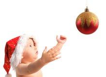 16婴孩圣诞老人 库存照片