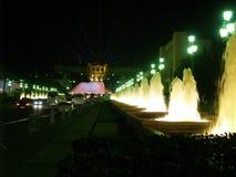 16巴塞罗那montjuic喷泉的魔术 免版税图库摄影