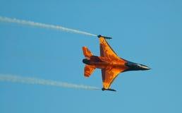 16航空airshow f强制荷兰波兰拉多姆 库存照片