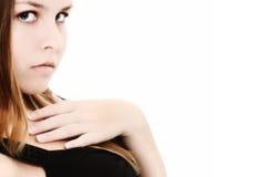 16青少年美丽的女孩 免版税库存图片