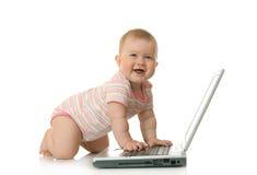 16 απομονωμένο μωρό lap-top μικρό Στοκ φωτογραφία με δικαίωμα ελεύθερης χρήσης
