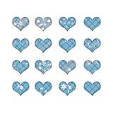 16 καρδιές λουλουδιών ελεύθερη απεικόνιση δικαιώματος