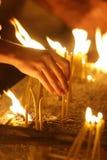 16 κεριά Στοκ Εικόνες