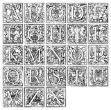 16$ος αιώνας αλφάβητου Στοκ εικόνες με δικαίωμα ελεύθερης χρήσης