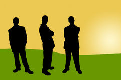 16 σκιές επιχειρηματιών διανυσματική απεικόνιση