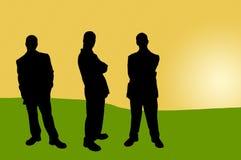 16 бизнесменов теней иллюстрация вектора