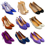 16 женских пестротканых ботинок Стоковое Изображение