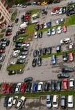 16 полов дробят взгляд на участки стоянкы автомобилей Стоковое Изображение RF
